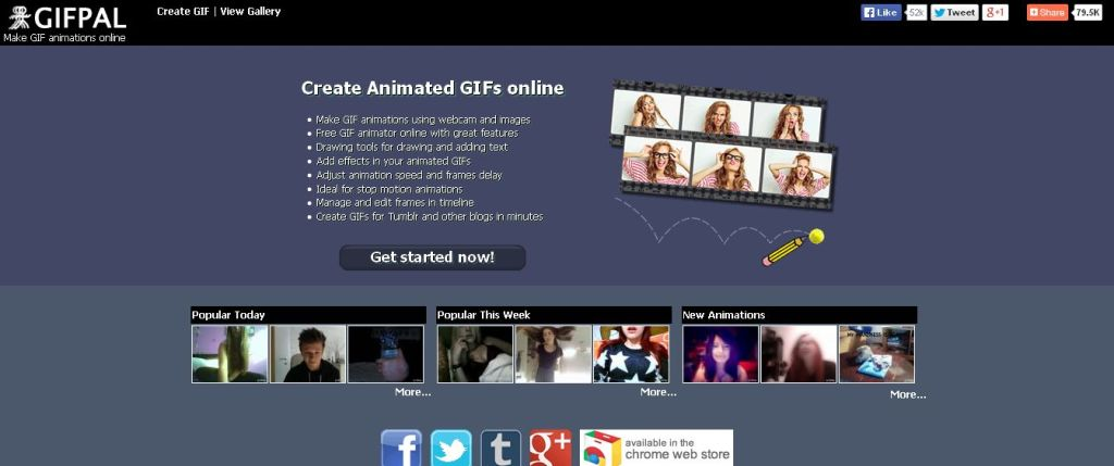 GIFPAL сделать гиф из картинок онлайн