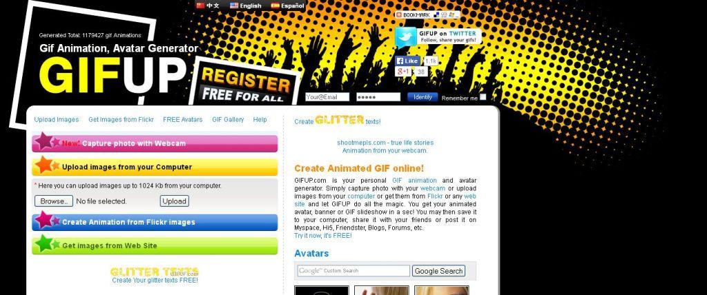GIFup делаем бесплатно гифки онлайн