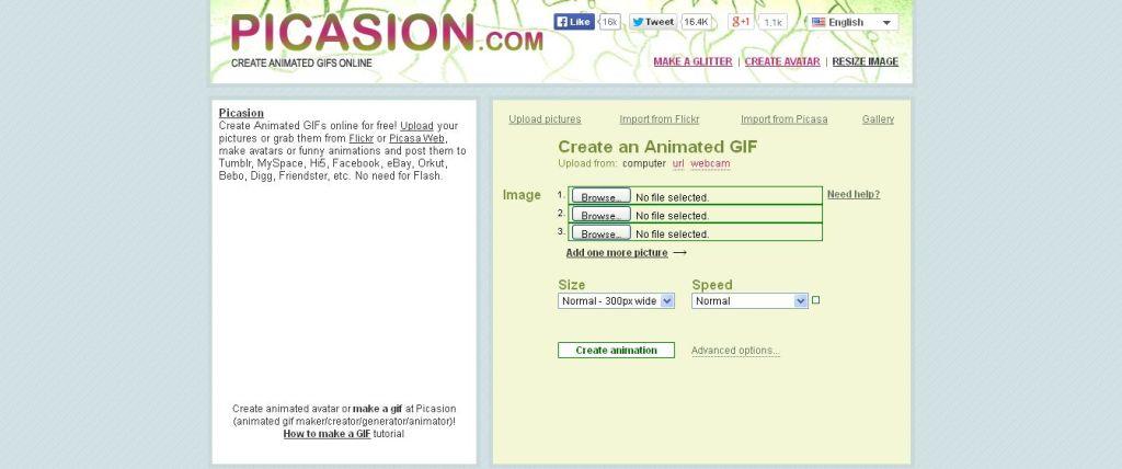 Picasion создание GIF онлайн